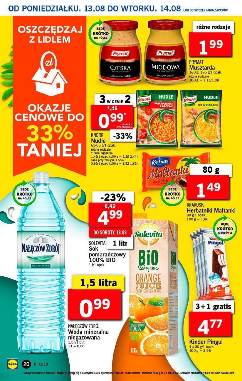 Gazetka promocyjna Lidl do 14/08/2018 str.20