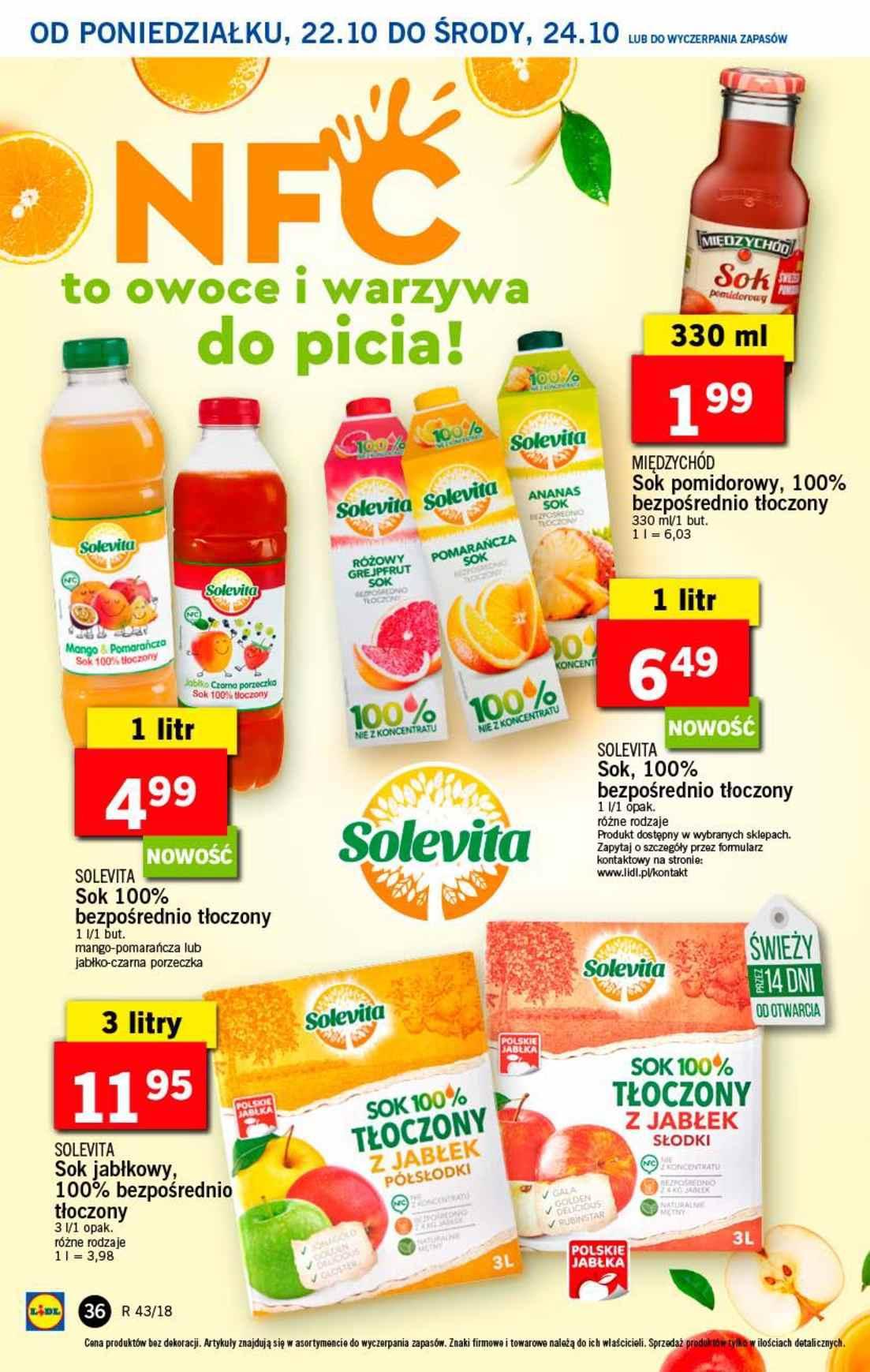 Gazetka promocyjna Lidl do 24/10/2018 str.36