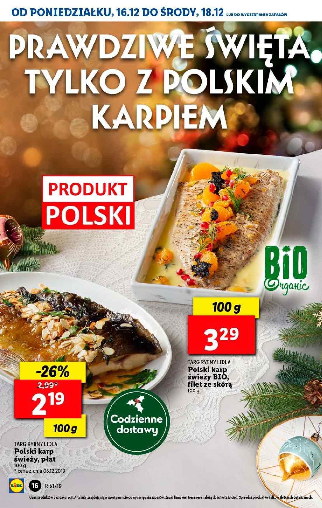 Gazetka promocyjna Lidl do 18/12/2019 str.16