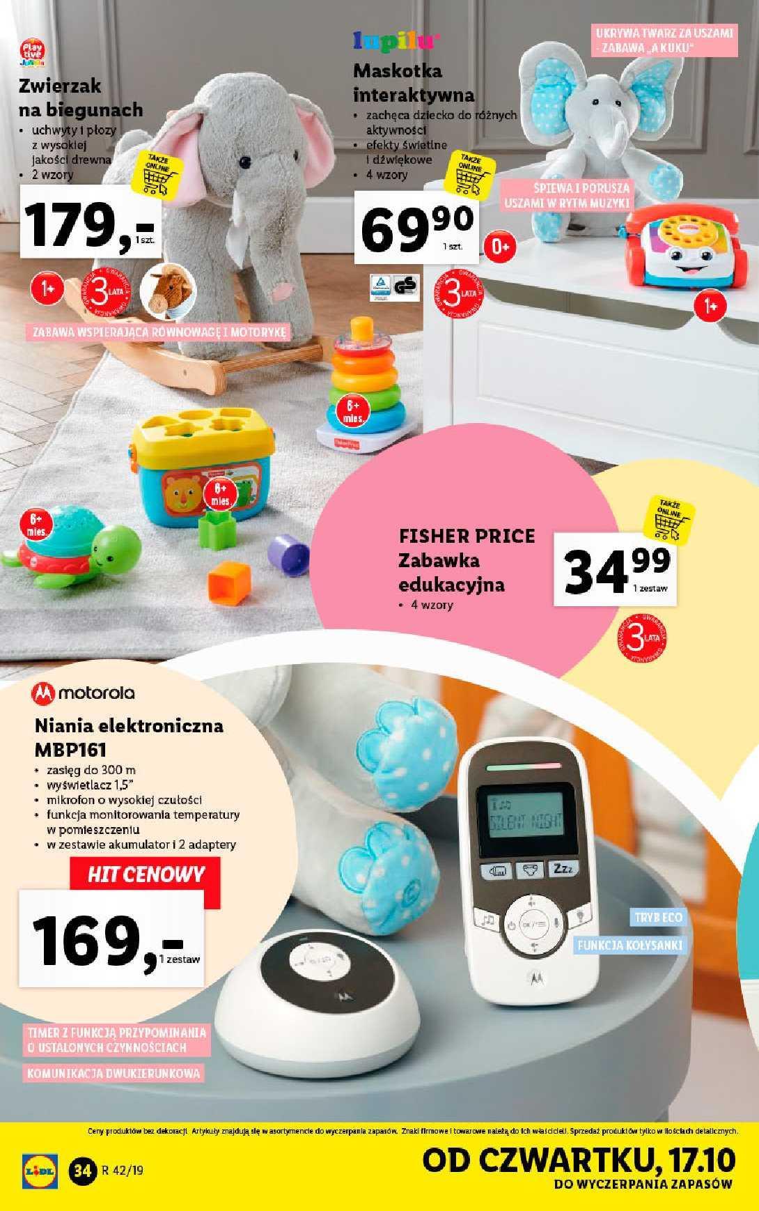 Gazetka promocyjna Lidl do 19/10/2019 str.34