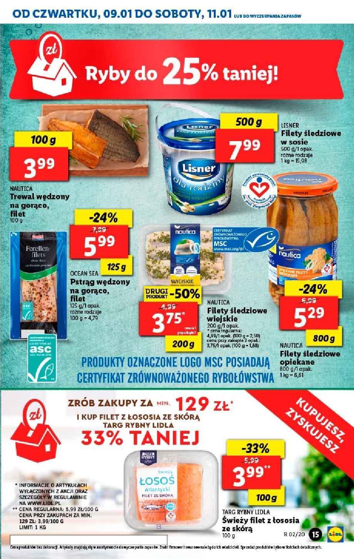 Gazetka promocyjna Lidl do 11/01/2020 str.15