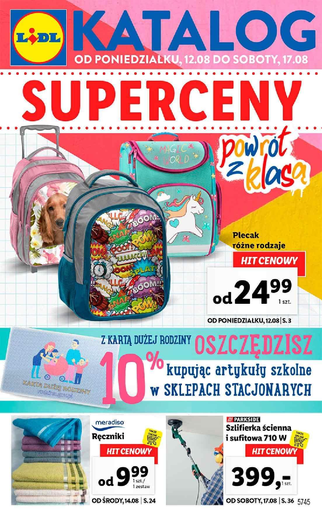 Gazetka promocyjna Lidl do 17/08/2019 str.1