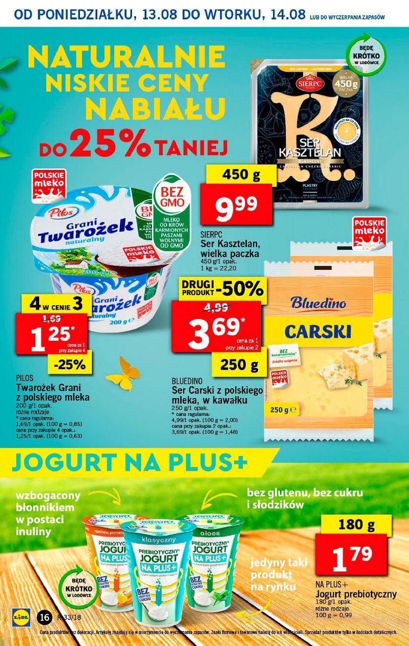 Gazetka promocyjna Lidl do 14/08/2018 str.16