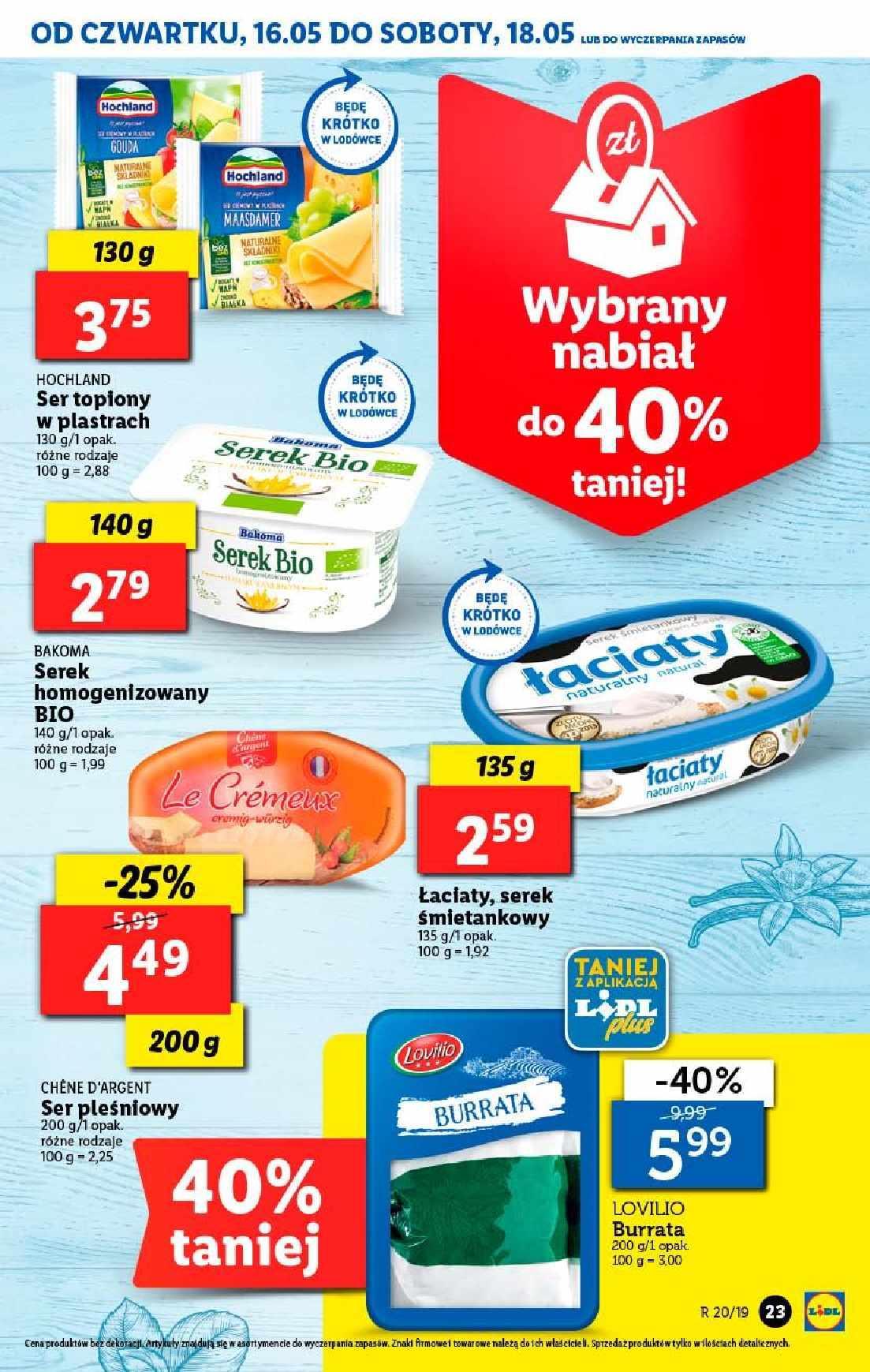 Gazetka promocyjna Lidl do 19/05/2019 str.23