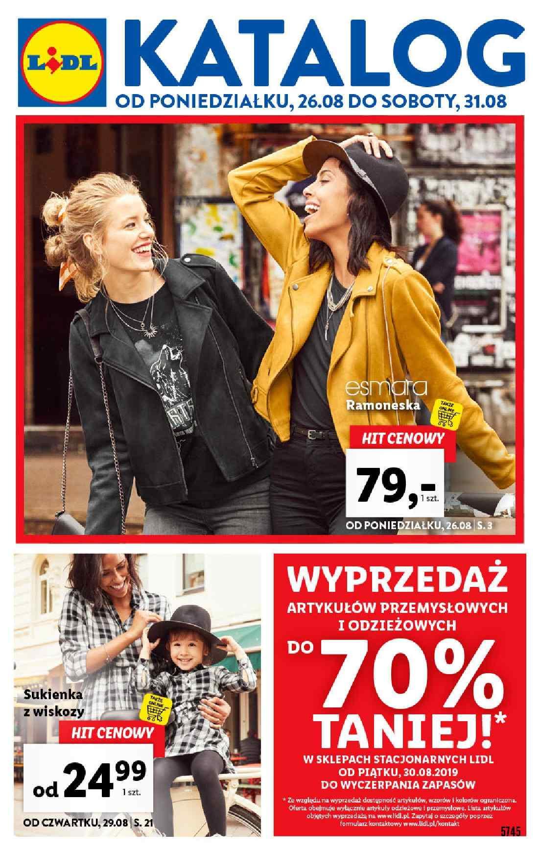 Gazetka promocyjna Lidl do 31/08/2019 str.1