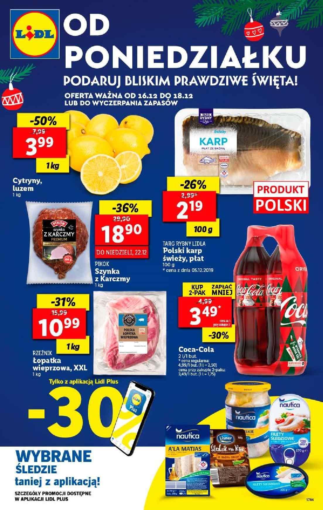 Gazetka promocyjna Lidl do 18/12/2019 str.1