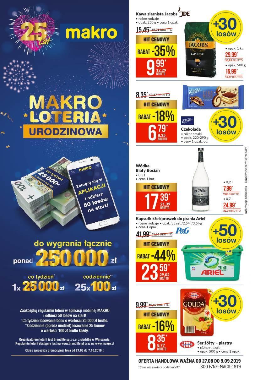 Gazetka promocyjna MAKRO do 09/09/2019 str.0