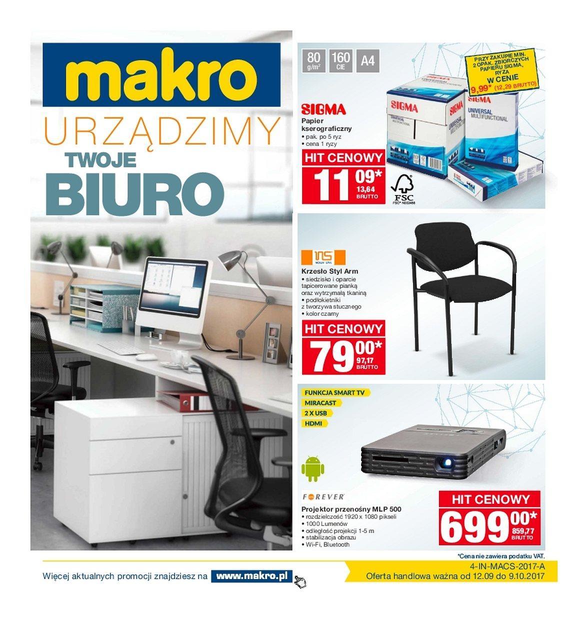 Gazetka promocyjna MAKRO do 09/10/2017 str.0