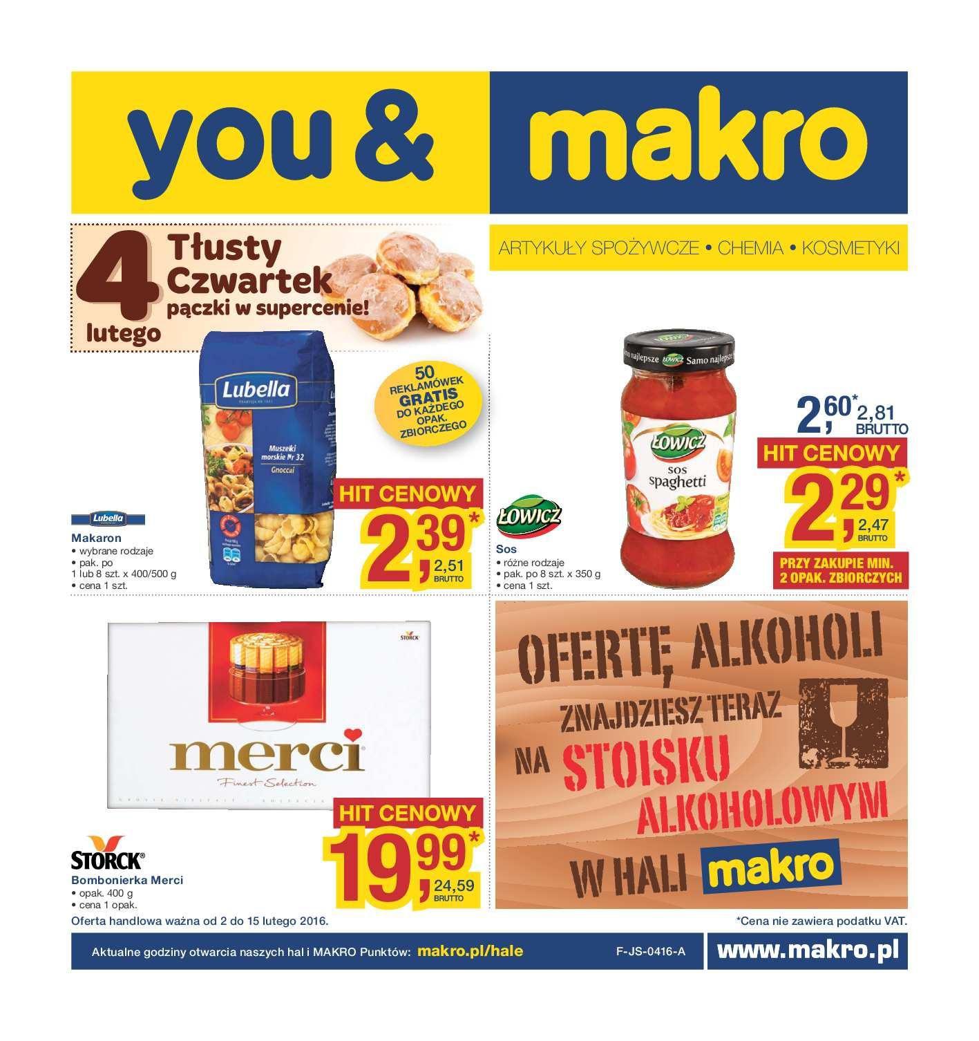 Gazetka promocyjna MAKRO do 15/02/2016 str.0