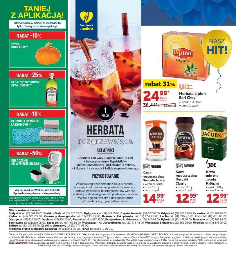 Gazetka promocyjna MAKRO do 22/10/2018 str.1