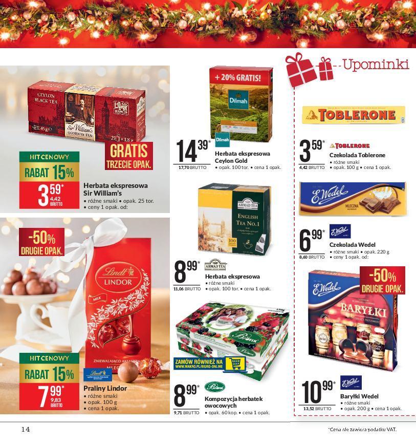 Gazetka promocyjna MAKRO do 24/12/2018 str.14