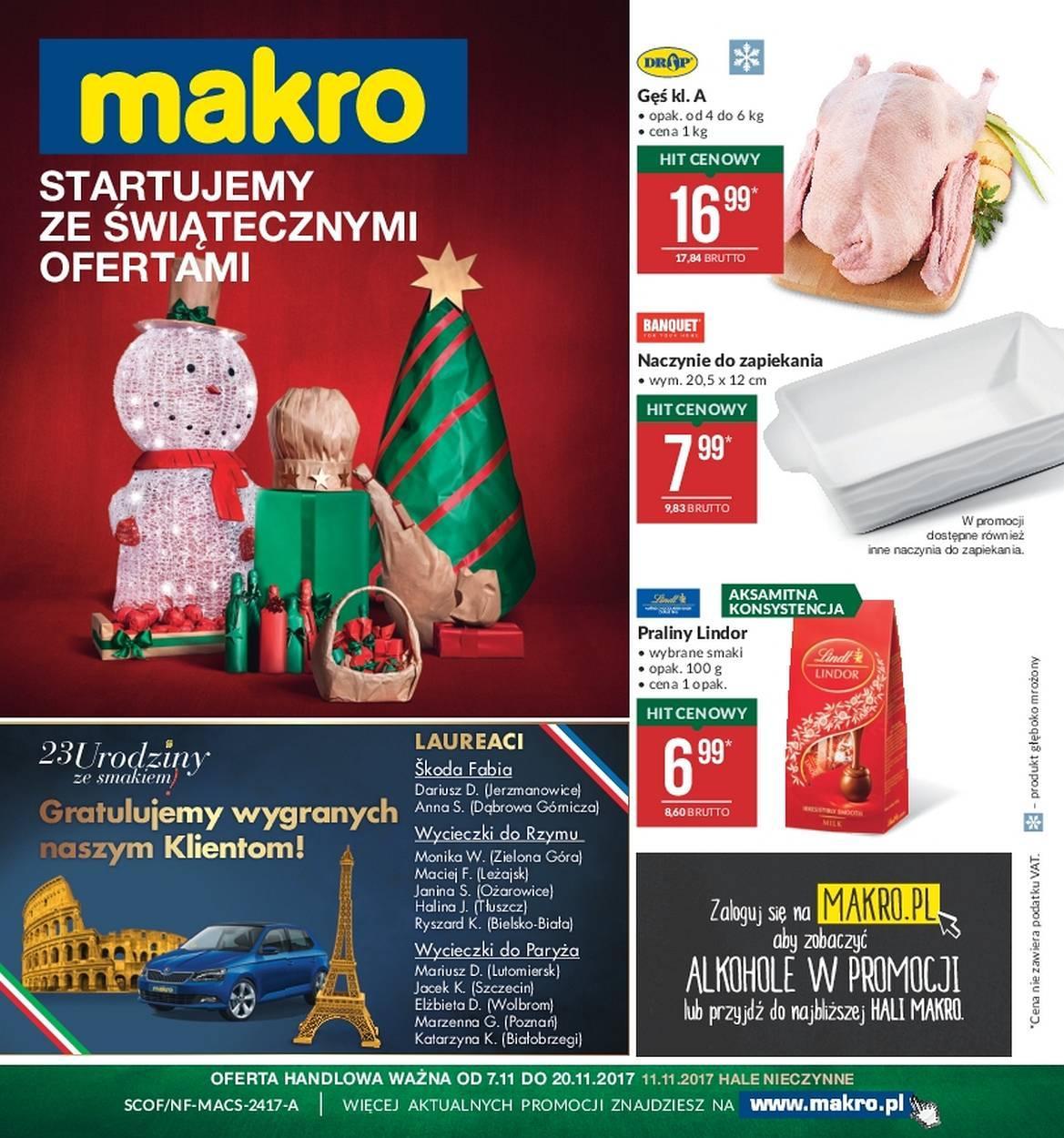 Gazetka promocyjna MAKRO do 20/11/2017 str.0