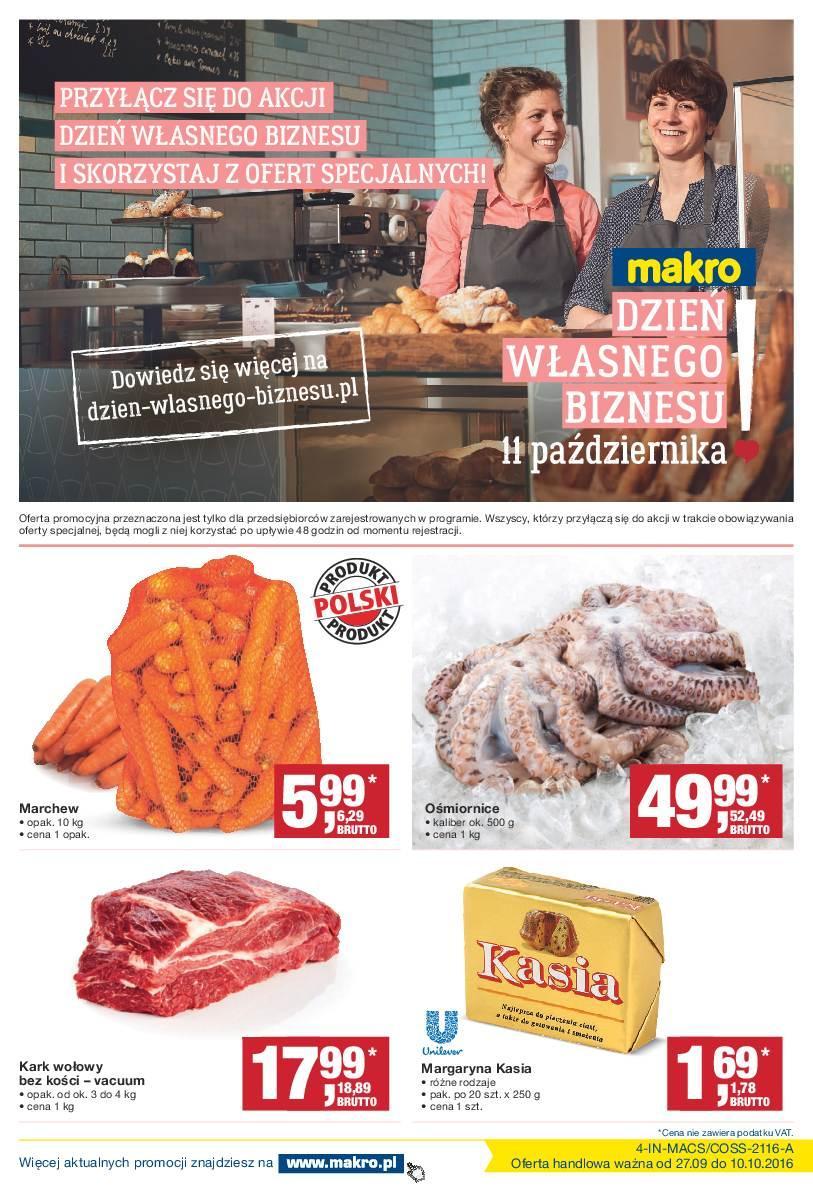 Gazetka promocyjna MAKRO do 10/10/2016 str.0