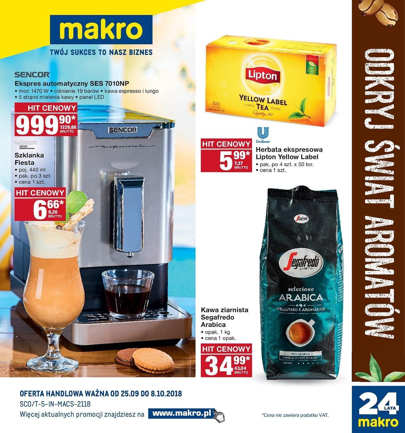 Gazetka promocyjna MAKRO do 08/10/2018 str.0