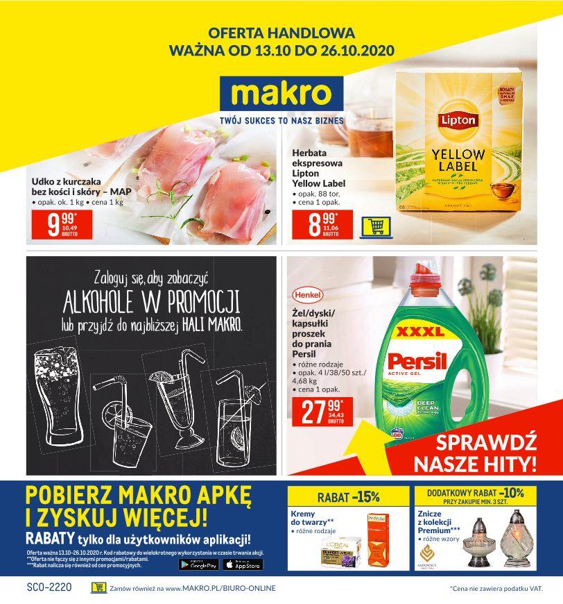 Gazetka promocyjna MAKRO do 26/10/2020 str.1