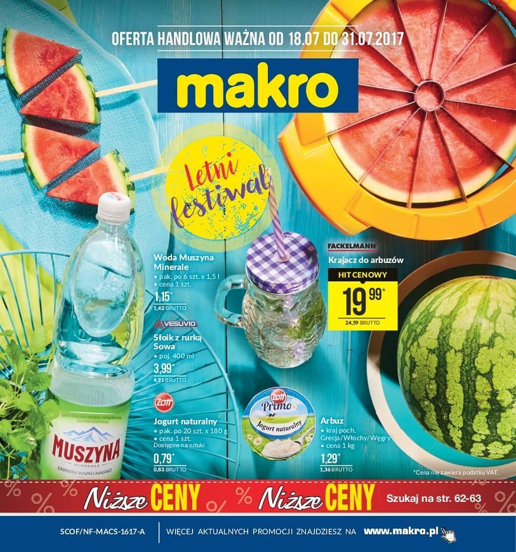 Gazetka promocyjna MAKRO do 31/07/2017 str.0