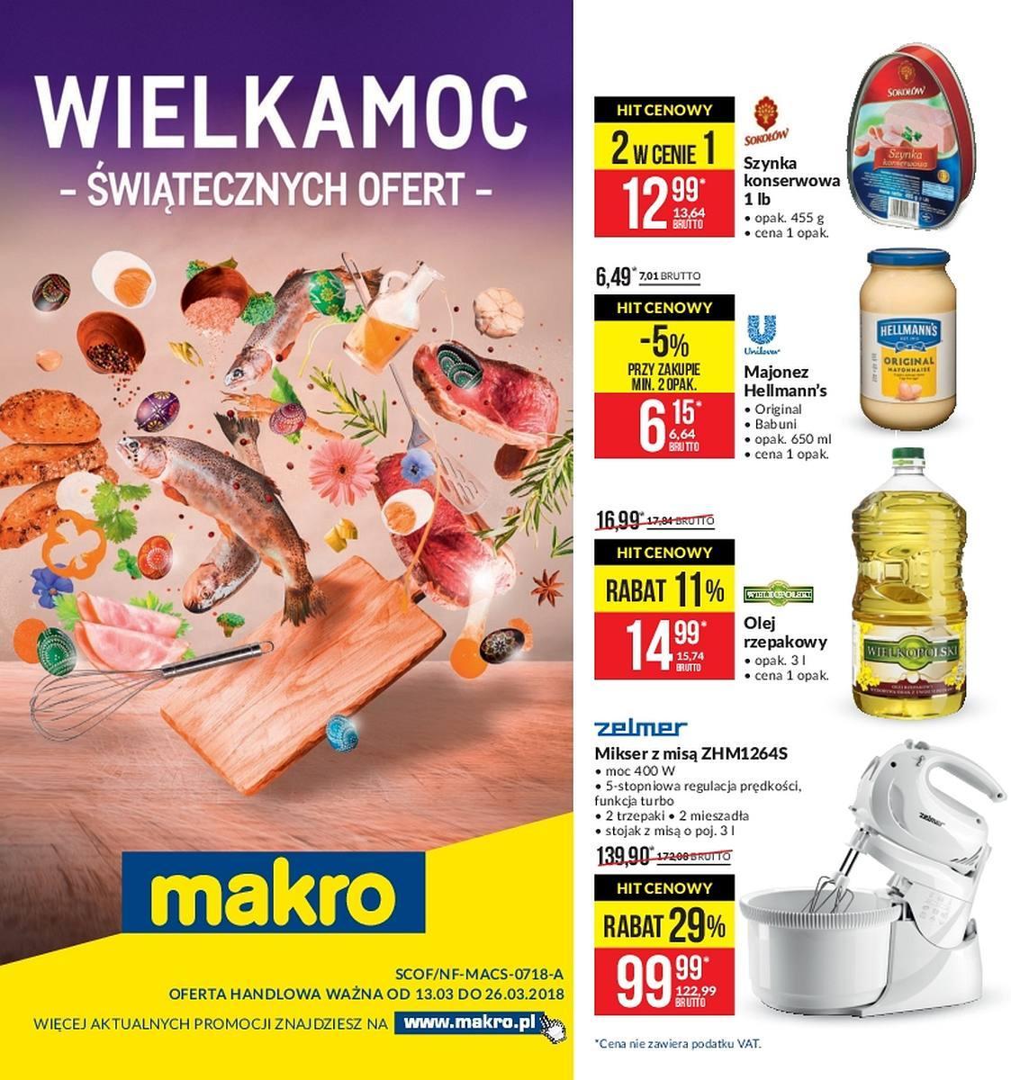 Gazetka promocyjna MAKRO do 26/03/2018 str.0