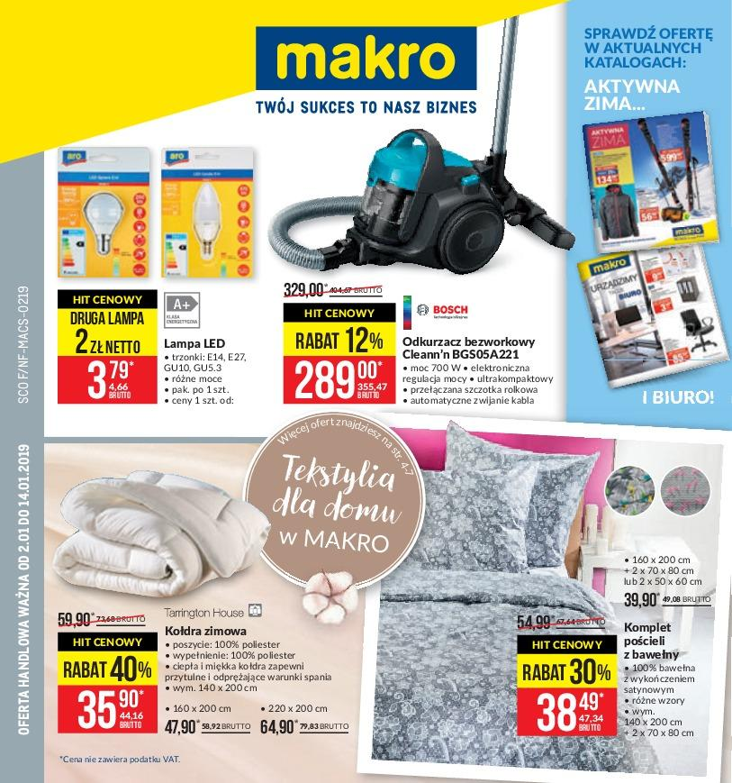 Gazetka promocyjna MAKRO do 14/01/2019 str.1