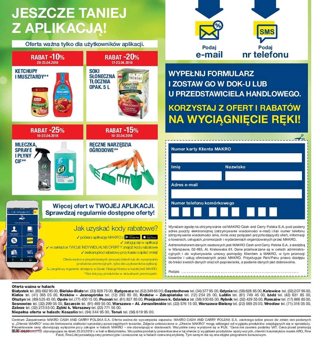 Gazetka promocyjna MAKRO do 23/04/2018 str.1