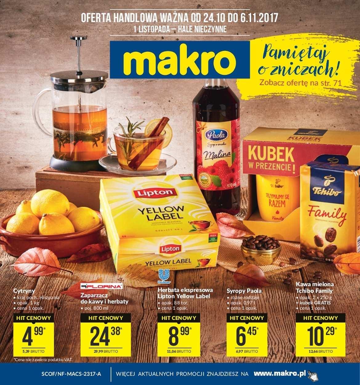 Gazetka promocyjna MAKRO do 06/11/2017 str.0