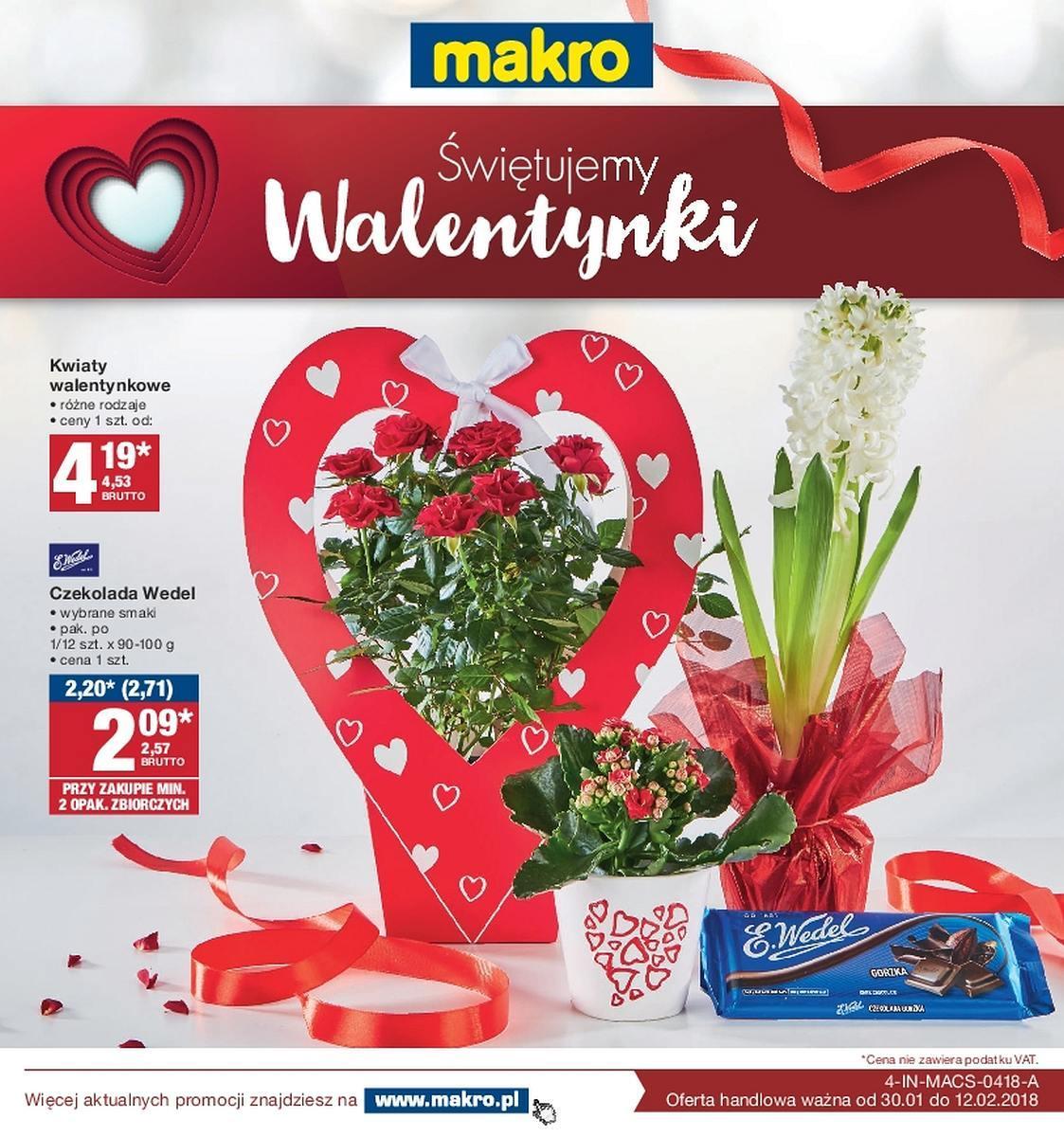 Gazetka Promocyjna I Reklamowa Makro Walentynki Od 30012018 Do