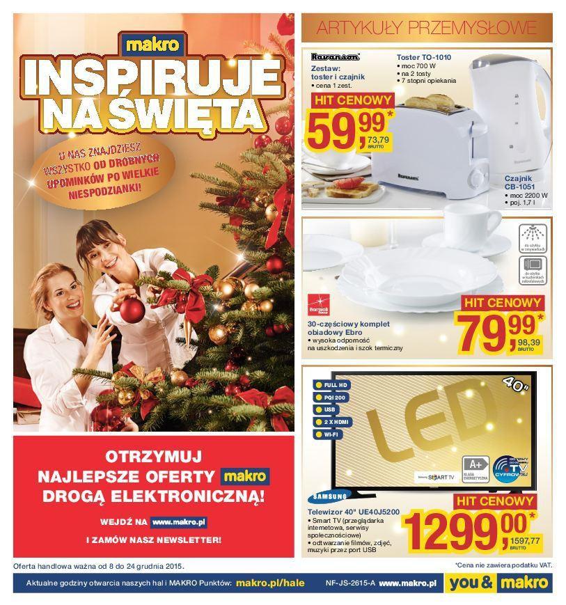 Gazetka promocyjna MAKRO do 24/12/2015 str.0