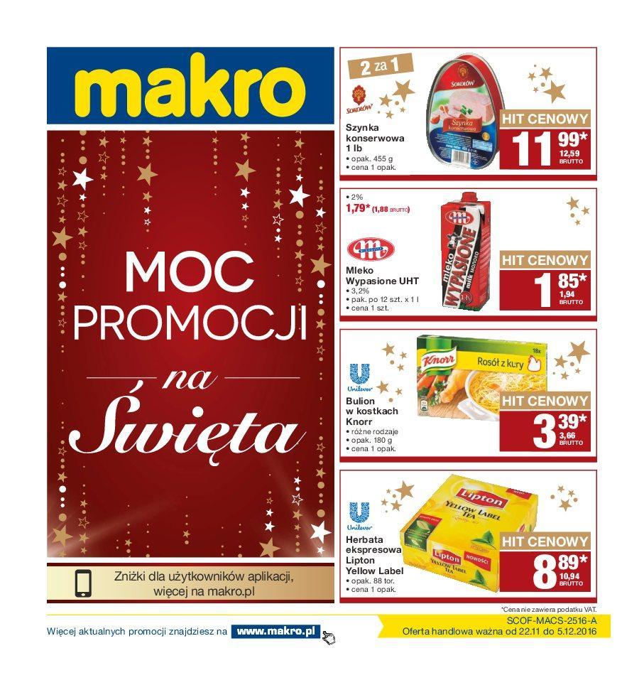 Gazetka promocyjna MAKRO do 05/12/2016 str.0