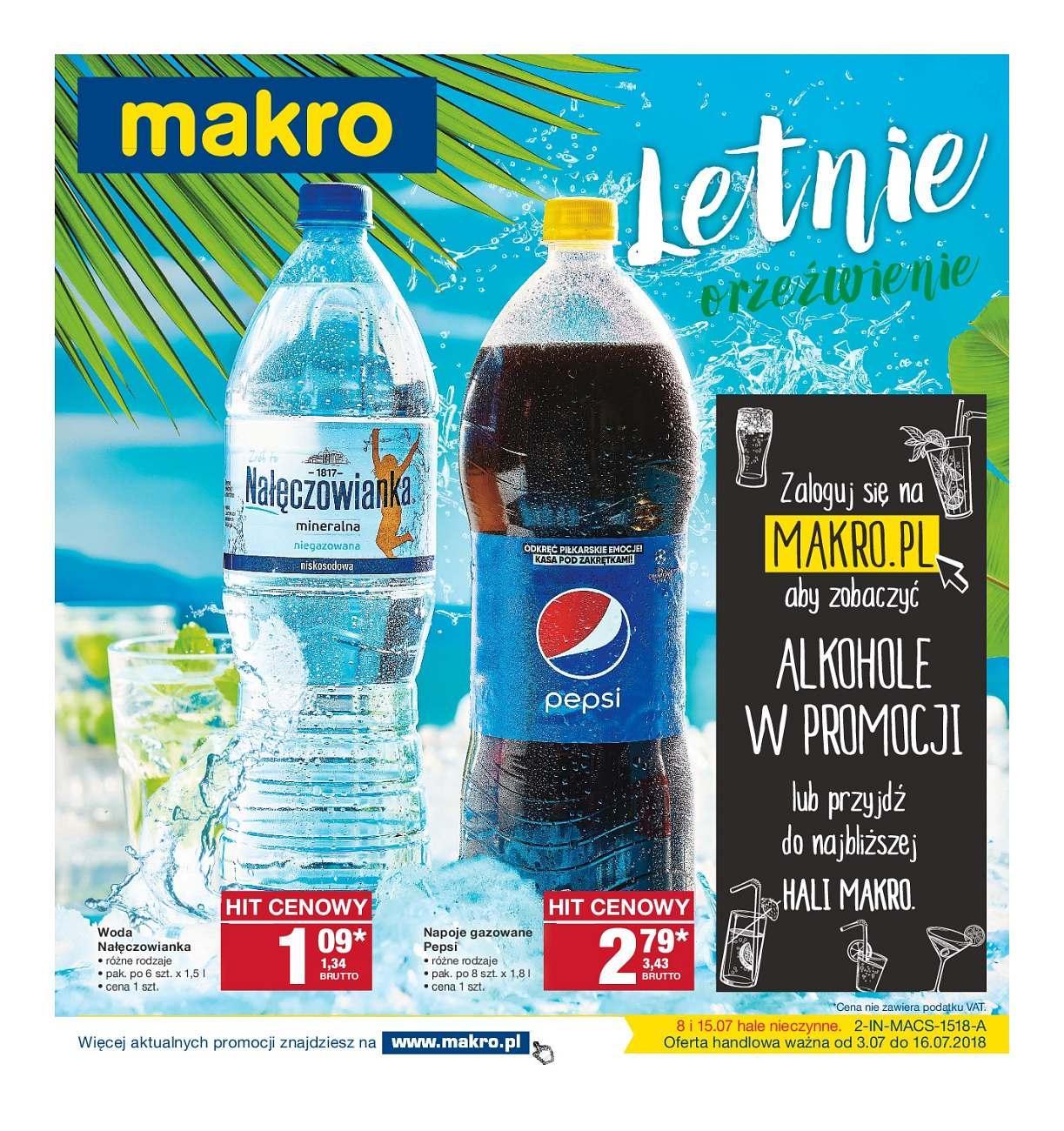 Gazetka promocyjna MAKRO do 16/07/2018 str.1
