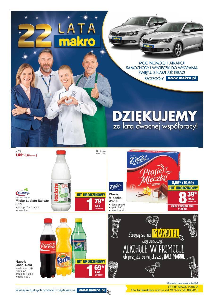Gazetka promocyjna MAKRO do 26/09/2016 str.0