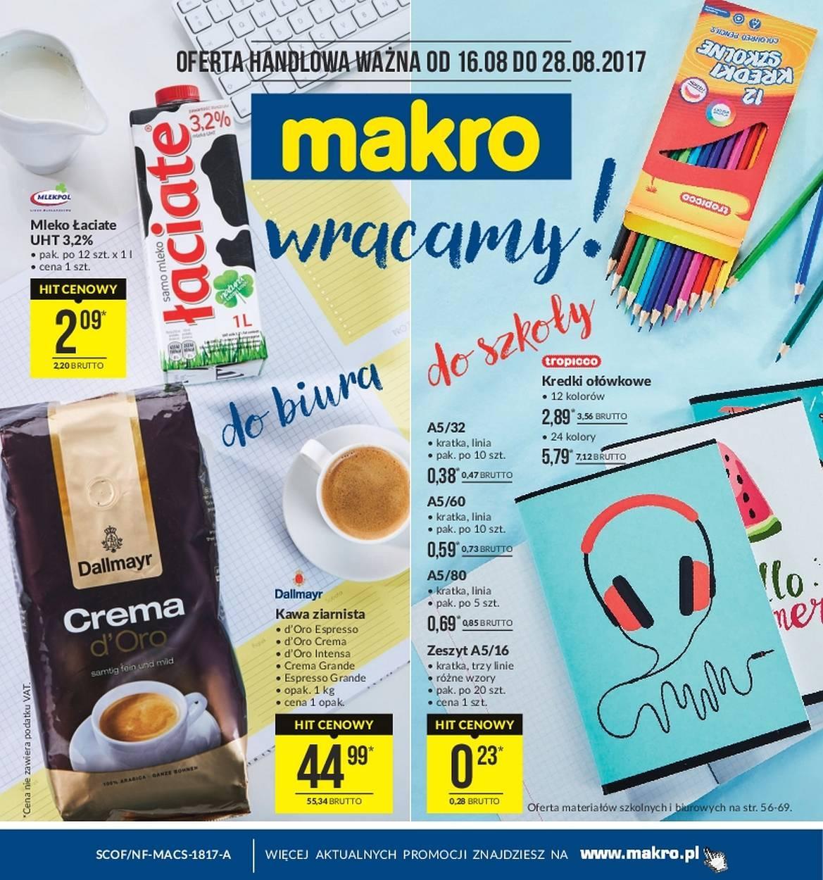 Gazetka promocyjna MAKRO do 28/08/2017 str.0