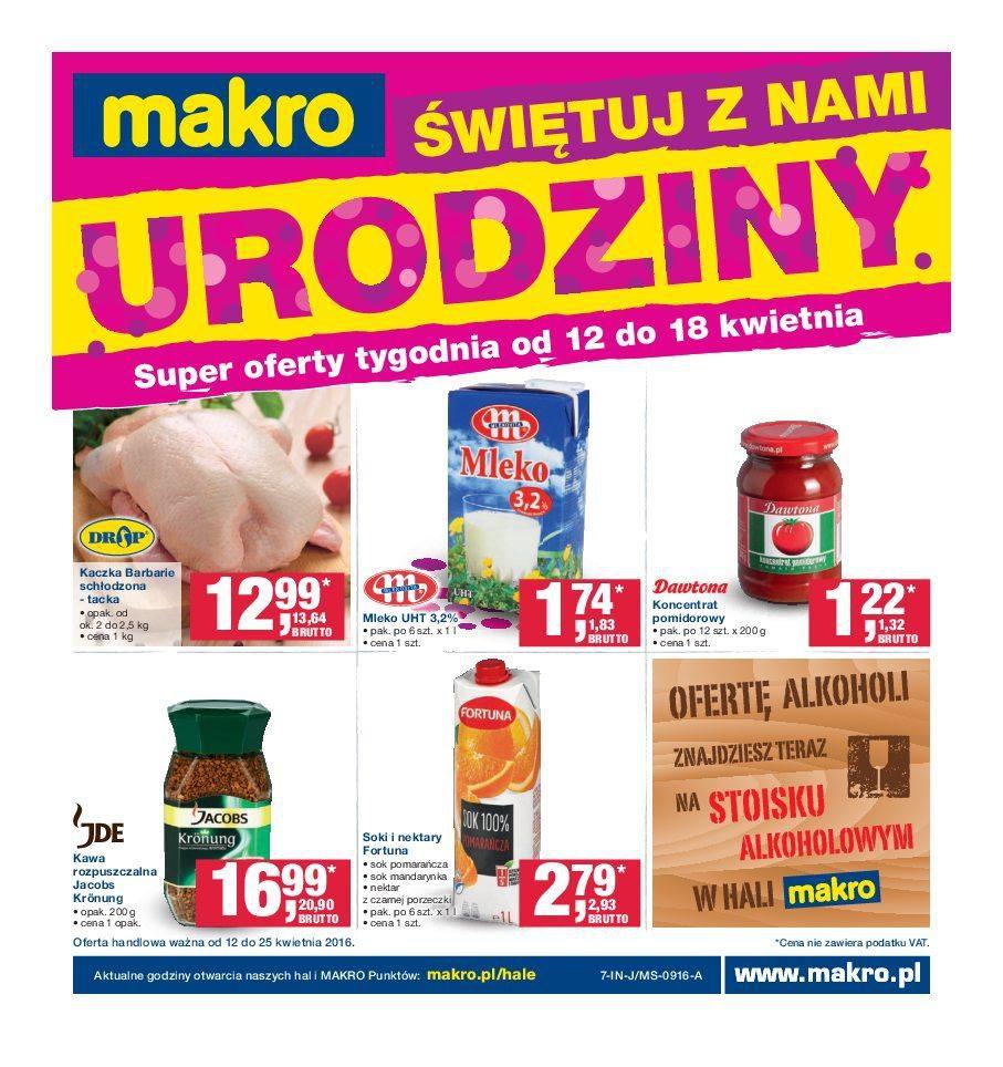 Gazetka promocyjna MAKRO do 25/04/2016 str.0
