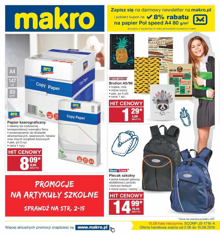 Gazetka promocyjna MAKRO do 15/08/2016 str.0
