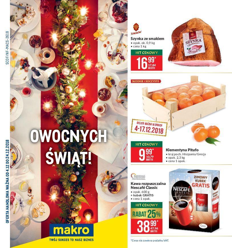 Gazetka promocyjna MAKRO do 24/12/2018 str.1