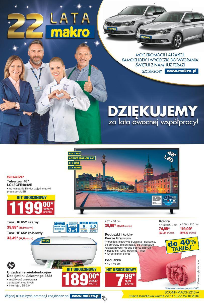 Gazetka promocyjna MAKRO do 24/10/2016 str.0