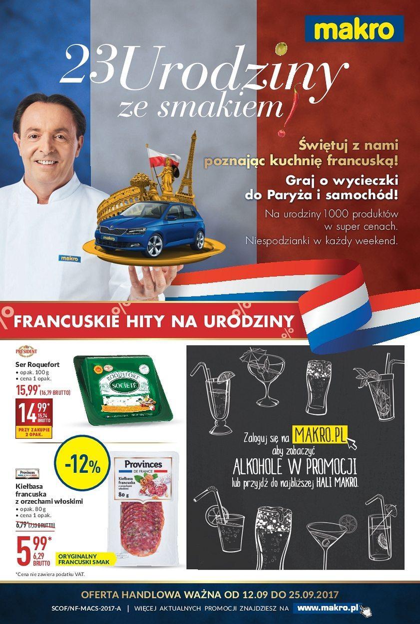 Gazetka promocyjna MAKRO do 25/09/2017 str.0