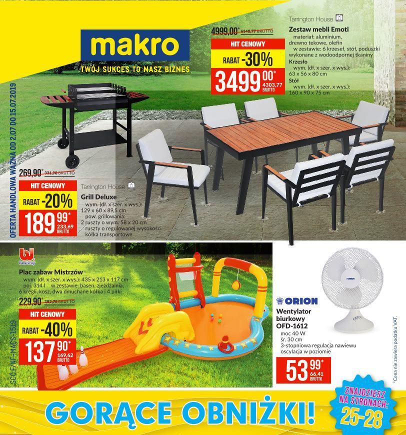 Gazetka promocyjna MAKRO do 15/07/2019 str.1
