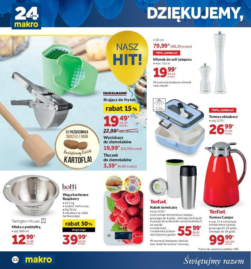 Gazetka promocyjna MAKRO do 22/10/2018 str.22