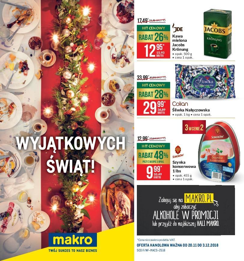 Gazetka promocyjna MAKRO do 03/12/2018 str.0