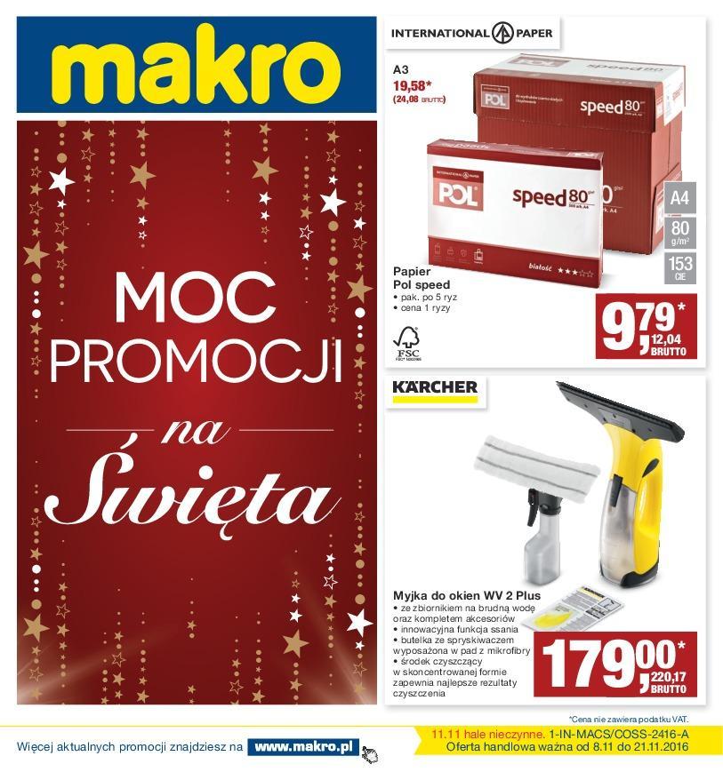Gazetka promocyjna MAKRO do 21/11/2016 str.0