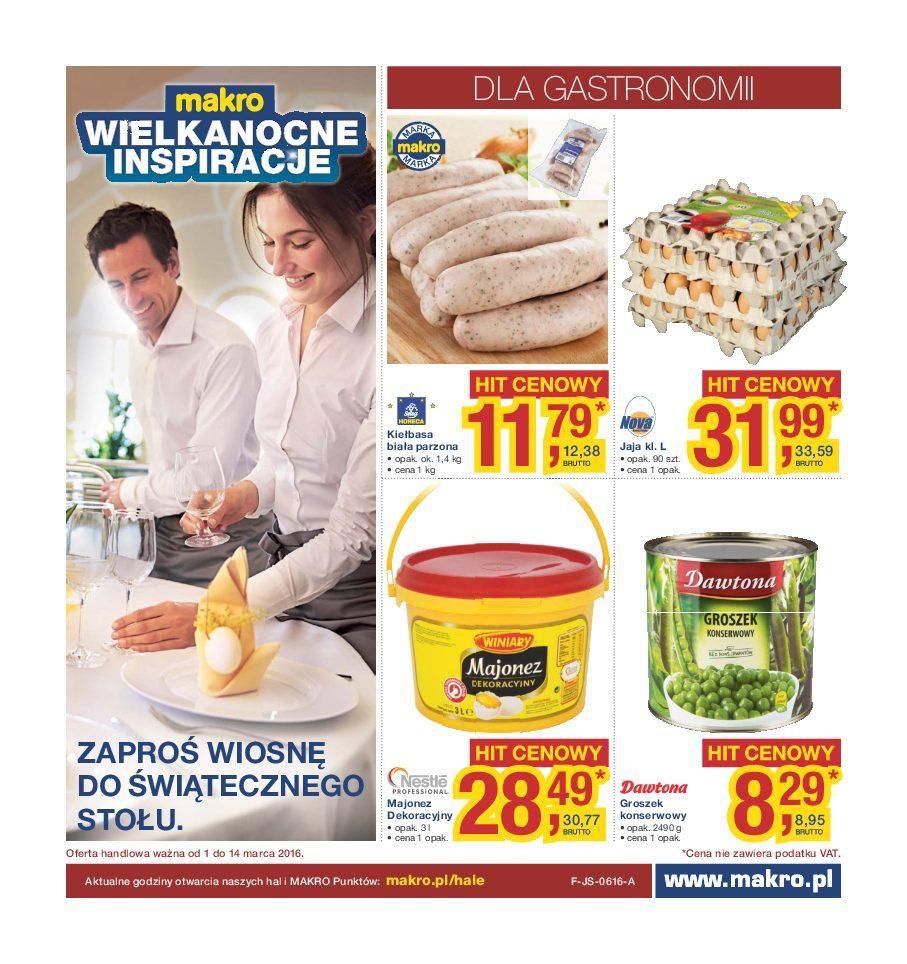 Gazetka promocyjna MAKRO do 14/03/2016 str.0