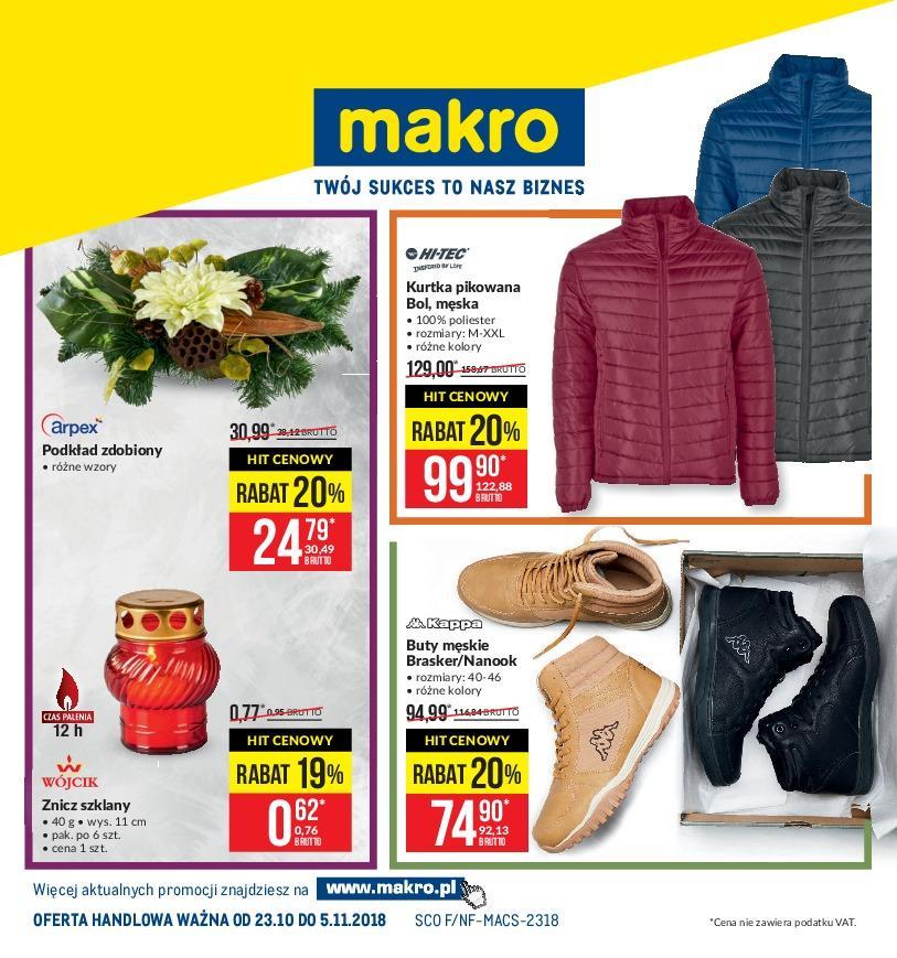 Gazetka promocyjna MAKRO do 05/11/2018 str.1