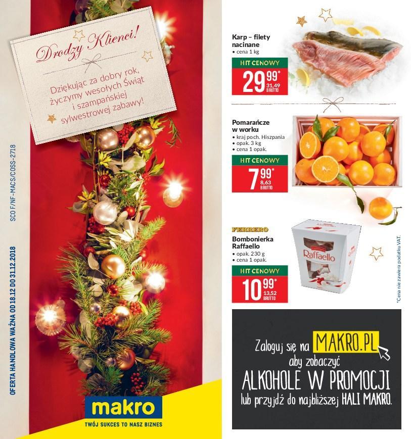 Gazetka promocyjna MAKRO do 31/12/2018 str.0