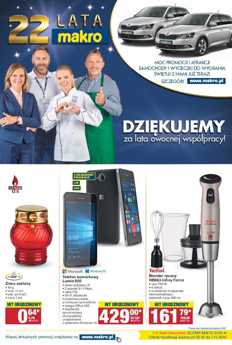 Gazetka promocyjna MAKRO do 07/11/2016 str.0