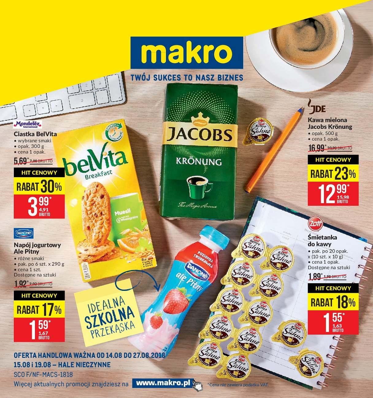Gazetka promocyjna MAKRO do 27/08/2018 str.1