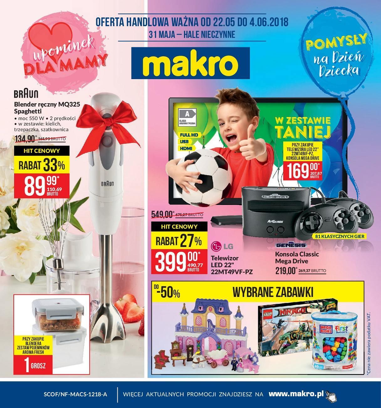 Gazetka promocyjna MAKRO do 04/06/2018 str.1