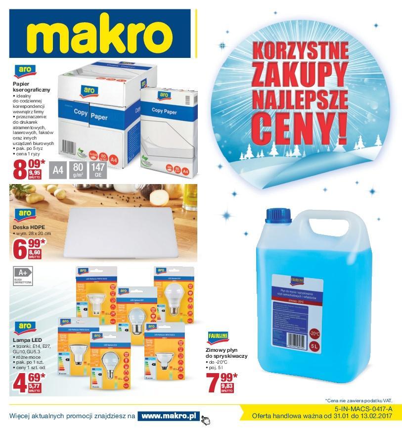 Gazetka promocyjna MAKRO do 13/02/2017 str.0