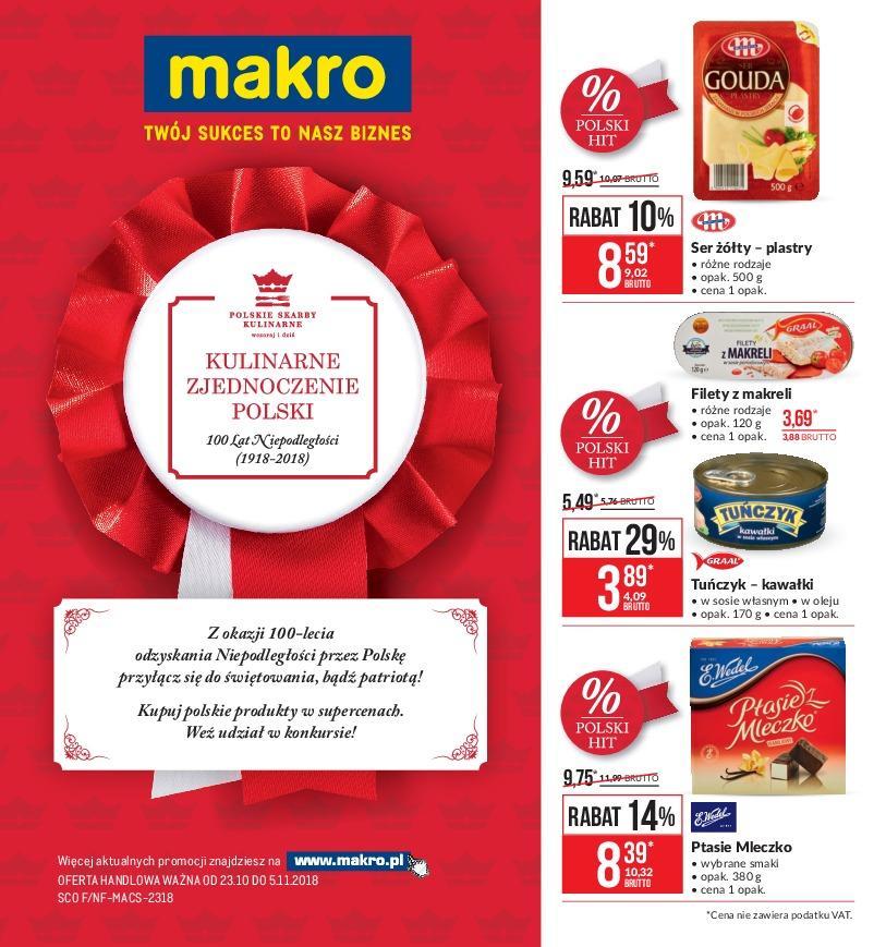 Gazetka promocyjna MAKRO do 05/11/2018 str.0