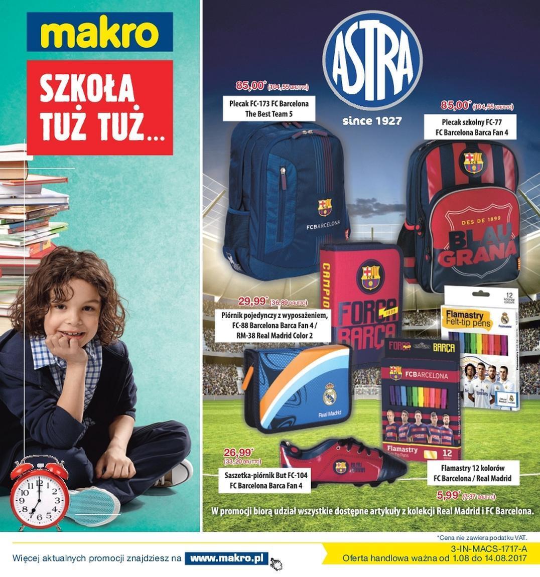 Gazetka promocyjna MAKRO do 14/08/2017 str.0