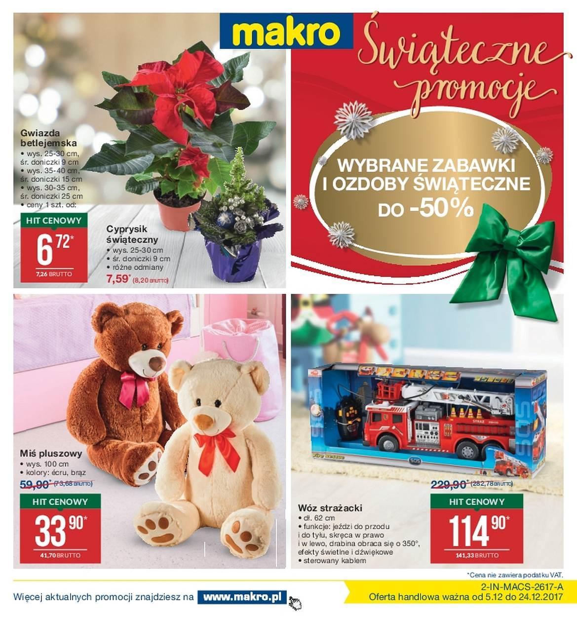 Gazetka promocyjna MAKRO do 24/12/2017 str.0