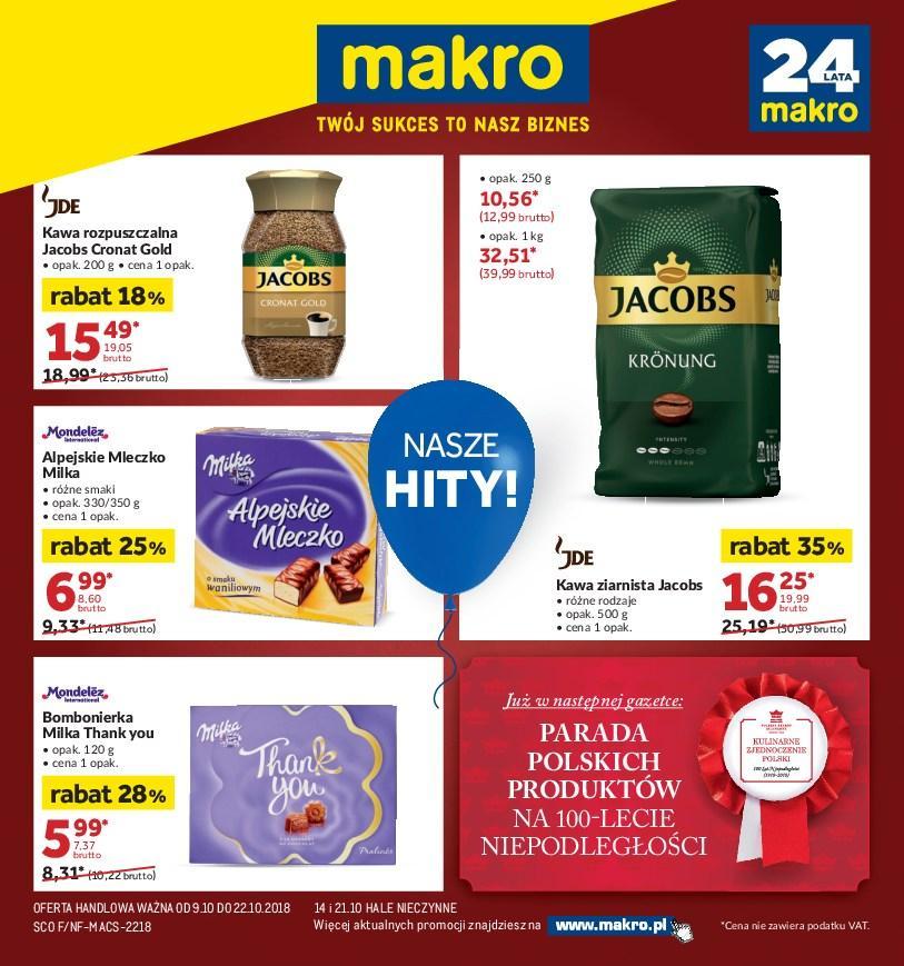 Gazetka promocyjna MAKRO do 22/10/2018 str.0